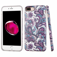 Premium Graphic Rubberized Protective Gel Case for iPhone 8 Plus / 7 Plus - Persian Paisley