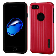 Carry On Luggage Design Hybrid Armor Case for iPhone 8 / 7 - Red