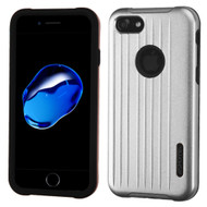 Carry On Luggage Design Hybrid Armor Case for iPhone 8 / 7 - Silver