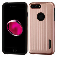 *Sale* Carry On Luggage Design Hybrid Armor Case for iPhone 7 Plus - Rose Gold