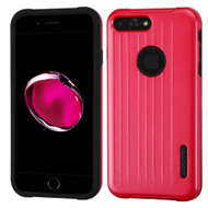 Carry On Luggage Design Hybrid Armor Case for iPhone 8 Plus / 7 Plus - Red