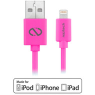 Naztech 6ft. MFI Lightning Connector to USB Charging and Sync Cable - Hot Pink