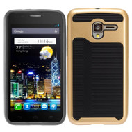 *Sale* Dual Layer Slim Hybrid Case for Alcatel Stellar / TRU - Gold