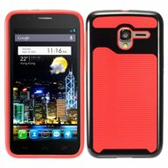 *Sale* Dual Layer Slim Hybrid Case for Alcatel Stellar / TRU - Black Red