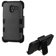 *Sale* Military Grade TUFF Hybrid Armor Case with Holster for Alcatel Stellar / TRU - Black