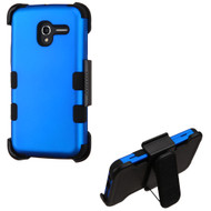 *Sale* Military Grade TUFF Hybrid Armor Case with Holster for Alcatel Stellar / TRU - Blue