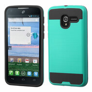 *Sale* Brushed Hybrid Armor Case for Alcatel Stellar / TRU - Green