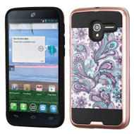 Brushed Graphic Hybrid Armor Case for Alcatel Stellar / TRU - Persian Paisley