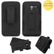 *Sale* Robust Armor Stand Protector Cover with Holster for Alcatel Stellar / TRU - Black