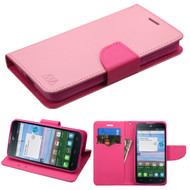 Diary Leather Wallet Case for Alcatel Stellar / TRU - Pink