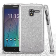*Sale* Full Glitter Hybrid Protective Case for Alcatel Stellar / TRU - Silver