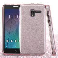 Full Glitter Hybrid Protective Case for Alcatel Stellar / TRU - Pink