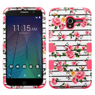 Military Grade Certified TUFF Image Hybrid Armor Case for Alcatel Stellar / TRU - Fresh Roses