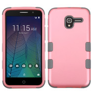 *Sale* Military Grade TUFF Hybrid Armor Case for Alcatel Stellar / TRU - Pearl Pink Grey