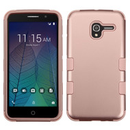 Military Grade Certified TUFF Hybrid Armor Case for Alcatel Stellar / TRU - Rose Gold