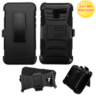 Advanced Armor Hybrid Kickstand Case with Holster for Alcatel Stellar / TRU - Black