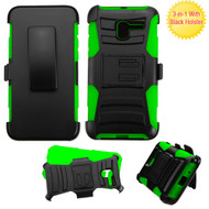 *Sale* Advanced Armor Hybrid Kickstand Case with Holster for Alcatel Stellar / TRU - Black Green