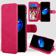 NeoUrban Leather Folio Wallet Case for iPhone 8 / 7 - Hot Pink