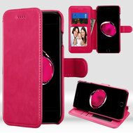 NeoUrban Leather Folio Wallet Case for iPhone 8 Plus / 7 Plus - Hot Pink