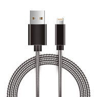 Luxmo Lightning to USB Charge and Sync Cable with Interlocking Armor - Black