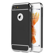 GripTech 3-Piece Chrome Frame Case for iPhone 8 / 7 - Black