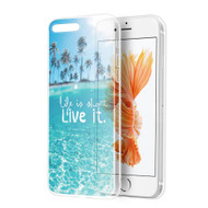 *Sale* Graphic Rubberized Protective Gel Case for iPhone 7 Plus - Paradise