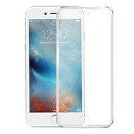 HD Curved Coverage Premium Tempered Glass Screen Protector with Titanium Alloy Bezel for iPhone 7 - Silver