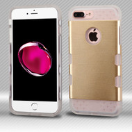 *Sale* Military Grade TUFF Trooper Dual Layer Hybrid Armor Case for iPhone 8 Plus / 7 Plus - Brushed Gold Clear