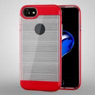 Flexsilk Bumper Frame Transparent Hybrid Case for iPhone 8 / 7 - Red