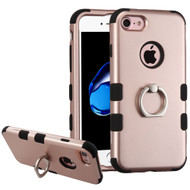 Military Grade Certified TUFF Hybrid Armor Case with Ring Holder for iPhone 8 / 7 - Rose Gold