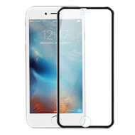 HD Curved Coverage Tempered Glass Screen Protector with Titanium Alloy Bezel for iPhone 6 Plus / 6S Plus - Black