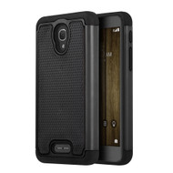 *Sale* TotalDefense Hybrid Case for Alcatel Fierce 4 / OneTouch Allura / Pop 4 Plus - Black