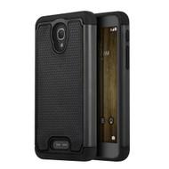 *Sale* TotalDefense Hybrid Case for Alcatel Fierce 4 / OneTouch Allura / Pop 4 Plus - Black