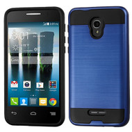 Brushed Hybrid Armor Case for Alcatel Fierce 4 / OneTouch Allura / Pop 4 Plus - Blue