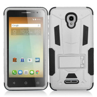 *Sale* Transformer Hybrid Armor Case with Stand for Alcatel Fierce 4 / OneTouch Allura / Pop 4 Plus - Grey