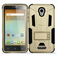 *SALE* Transformer Hybrid Armor Case with Stand for Alcatel Fierce 4 / OneTouch Allura / Pop 4 Plus - Gold