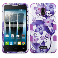 *SALE* Military Grade TUFF Image Hybrid Armor Case for Alcatel Fierce 4 / OneTouch Allura / Pop 4 Plus - Hibiscus