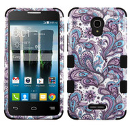 Military Grade TUFF Image Hybrid Armor Case for Alcatel Fierce 4 / OneTouch Allura / Pop 4 Plus - Persian Paisley