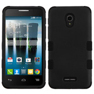 Military Grade Certified TUFF Hybrid Armor Case for Alcatel Fierce 4 / OneTouch Allura / Pop 4 Plus - Black
