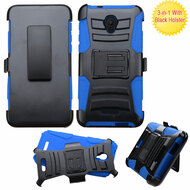 *Sale* Advanced Armor Hybrid Kickstand Case with Holster for Alcatel Fierce 4 / OneTouch Allura / Pop 4 Plus - Blue