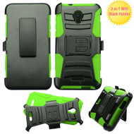 *SALE* Advanced Armor Hybrid Kickstand Case with Holster for Alcatel Fierce 4 / OneTouch Allura / Pop 4 Plus - Green