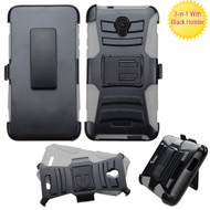 *Sale* Advanced Armor Hybrid Kickstand Case with Holster for Alcatel Fierce 4 / OneTouch Allura / Pop 4 Plus - Grey