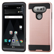 Brushed Hybrid Armor Case for LG V20 - Rose Gold