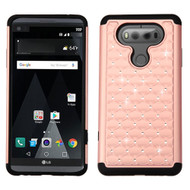 TotalDefense Diamond Hybrid Case for LG V20 - Rose Gold