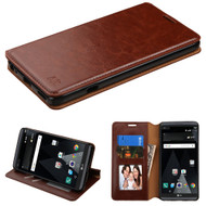 Book-Style Leather Folio Case for LG V20 - Brown
