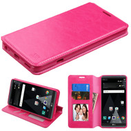 Book-Style Leather Folio Case for LG V20 - Hot Pink