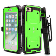 *Sale* Dual Layer Protective Armor Case with Holster for iPhone 7 - Green