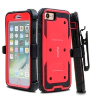 *Sale* Dual Layer Protective Armor Case with Holster for iPhone 7 Plus - Red