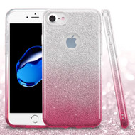 Full Glitter Hybrid Protective Case for iPhone 8 / 7 - Gradient Pink