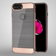 Flexsilk Bumper Frame Transparent Hybrid Case for iPhone 8 Plus / 7 Plus / 6S Plus / 6 Plus - Rose Gold